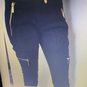 Michael Kors Navy skinny pants.